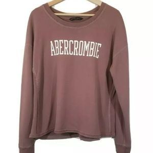 Womens Abercrombie & Fitch Pullover Sweatshirt L